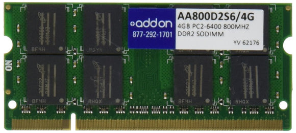 4gb Ddr2-800mhz Pc2-6400 200pin Industry Standard Sodimm F/Laptops