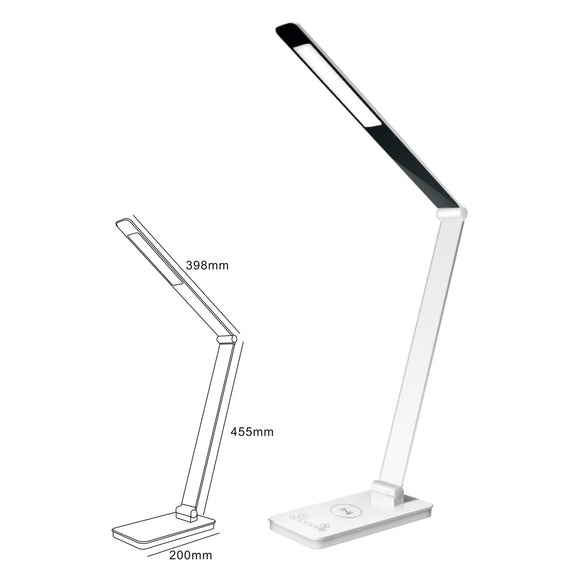ROYAL SOVEREIGN RDL-130U-QI Dual Pivot LED Desk Lamp