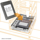 "ICY DOCK 2.5"" to 3.5"" SSD/HDD Mounting Adapter Comparable to Adaptadrive Mac SAS/SATA Hard Drive Tray Kit (MB482SP-3B)"