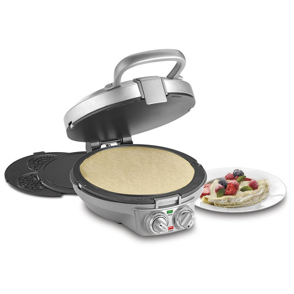 Open Box CUISINART CPP-200C International Chef Cr?pe/Pizzelle, Pancake Plus, Silver