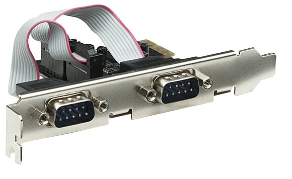 Manhattan 2 Ports, x1 Lane Serial PCI Express Card, Fits Standard and Low-Profile PCI Slots