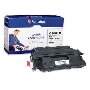Verbatim HP C8061X High Yield Remanufactured Laser Toner Cartridge, Black 94464