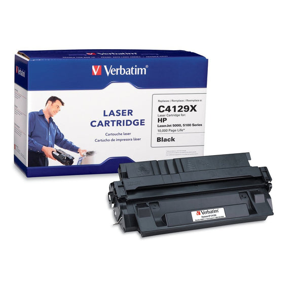 Verbatim Remanufactured Toner Cartridge Replacement for HP C4129X (Black)