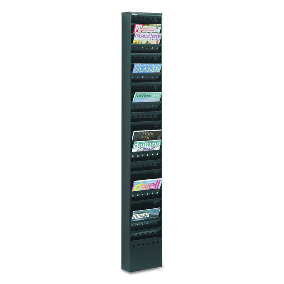 Safco Products 23-Pocket Steel Magazine Rack, Black (4322BL)