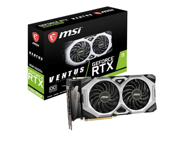 MSI Gaming GeForce RTX 2080 Super 8GB GDRR6 256-Bit HDMI/DP Nvlink Torx Fan Turing Architecture Overclocked Graphics Card (RTX 2080 Super Ventus XS OC)