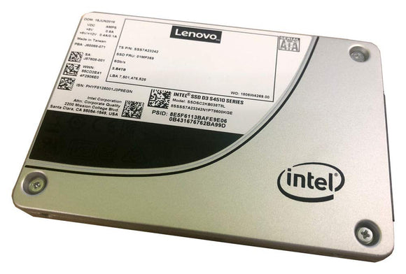 Lenovo 960GB THINKSYSTEM SSD SATA 3.5IN Intel S4510 Entry 6GB HS