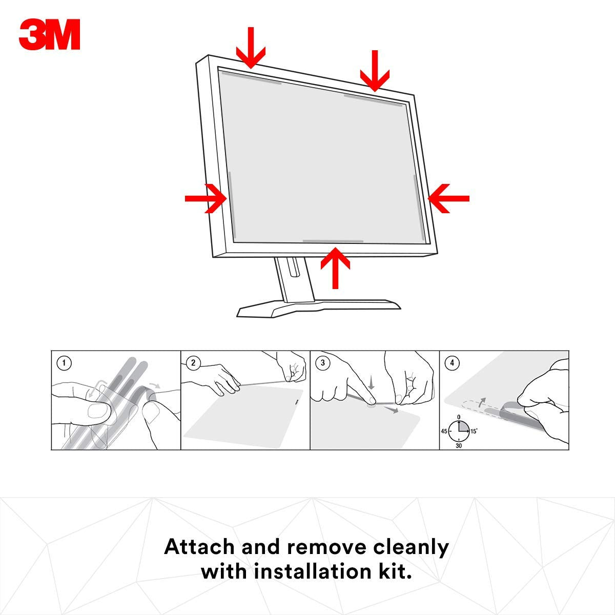 3M Privacy Filter for 19 Standard Monitor 5:4 Reduces blue light Protects your confidential information PF190C4B