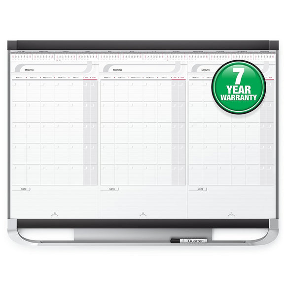 Quartet CMP32P2 Prestige 2 Total Dry-Erase Modular Monthly Calendar, with Sliding Panels, 3 by 2 Feet, 3413820128