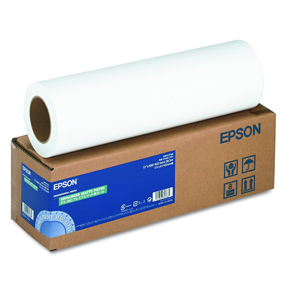 17in X 100ft Roll Enhanced Matte Paper for Photos 3in Core