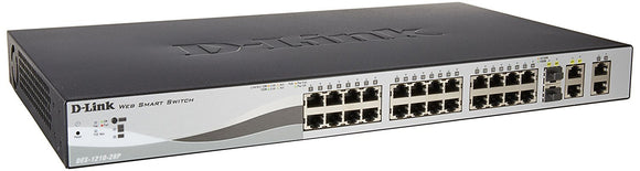 Open Box D-Link Switch DES-1210-28P 24 x Port 10/100 2xCombo SFP/2x Gigabit Web Smart Retail