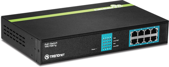 TRENDnet TPE-TG81g 8-Port Gigabit Greennet PoE Plus Switch
