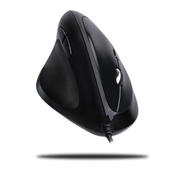 Adesso Imouse E7 - Ergonomic Mouse for Left Hand, with Cable, Programmable Functions, and Adjustable Weight