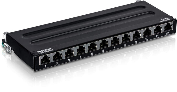 TRENDnet 12-Port Cat6A Shielded Wall Mount Patch Panel