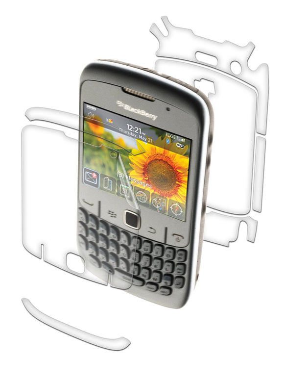 ZAGG BLKBRY8520FB InvisibleShield BlackBerry Curve 8520/8530 Full Body, Screen Protector, Retail Packaging, 1-Pack (Clear)