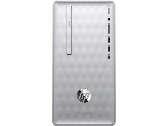 HP Pavilion Desktop (Intel Core i5, 8GB, 1TB HD, DVD Writer, Windows 10 Home, Silver) 590-p0139