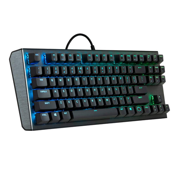 Cooler Master CK530 Tenkeyless Gaming Mechanical Keyboard with RGB Backlighting, On-The-Fly Controls, and Aluminum Top Plate