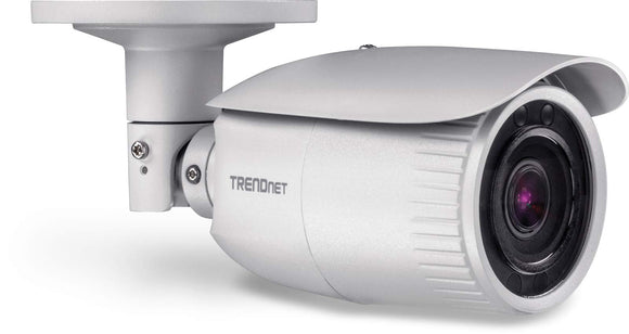 TRENDnet Indoor/Outdoor 4 MP, Motorized Varifocal PoE IR Network Camera, Auto-Focus, Optical Zoom, Digital WDR, Night Vision up to 100ft, IP66 Rated Housing, ONVIF, IPv6, TV-IP344PI