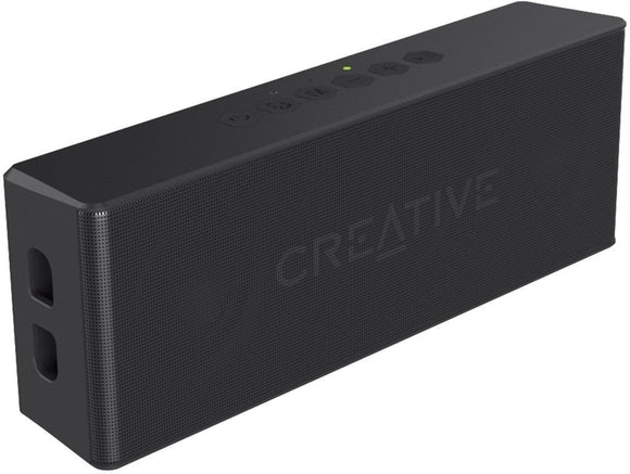 Creative MUVO 2 Portable Water-resistant Bluetooth Speaker with Built-in MP3 Player (Black)