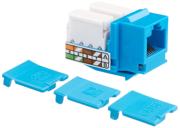 C2G 35206 Cat5e 90° RJ45 Unshielded Keystone Jack, Blue