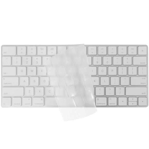 Macally Keyboard Cover Skin for Apple Wireless Magic Keyboard Ultra Thin Clear Soft TPU Type Dust Proof Protector