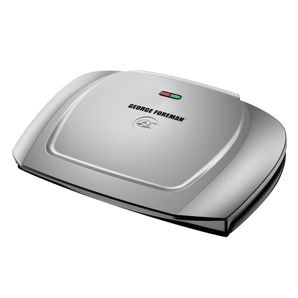 Open Box George Foreman 9-Serving Classic Plate Grill, Silver, GR2144P