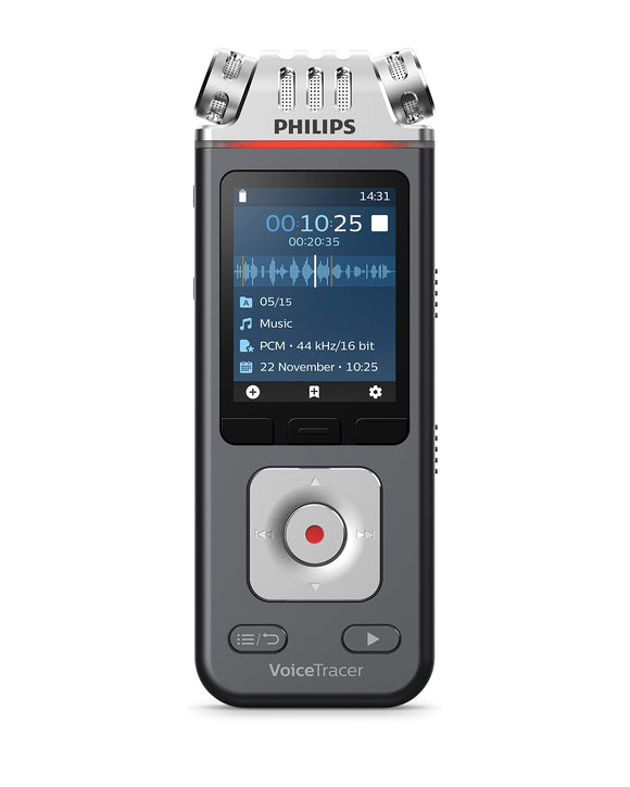 Philips Speech DVT7110 Philips DVT7110 VoiceTracer Audio Recorder Voice Recorder