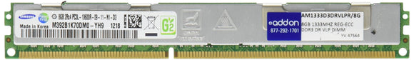 8gb Pc3-10600 1333mhz Ddr3 Cl9 240pin Dimm Reg Ecc Dual Rank Vlp
