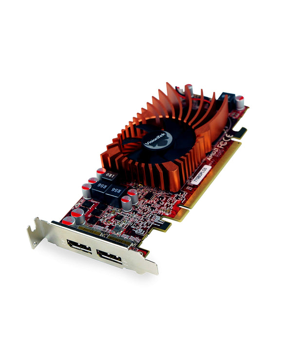 VisionTek Products 900942 Radeon 7750 SFF 2GB GDDR5 2X DP Graphics Card, Multicolor, Red