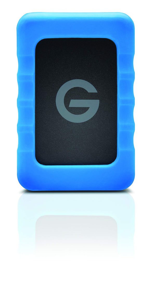 G-Technology 2TB G-Drive ev RaW Portable External Hard Drive with Removable Protective Rubber Bumper - USB 3.0-0G10199-1