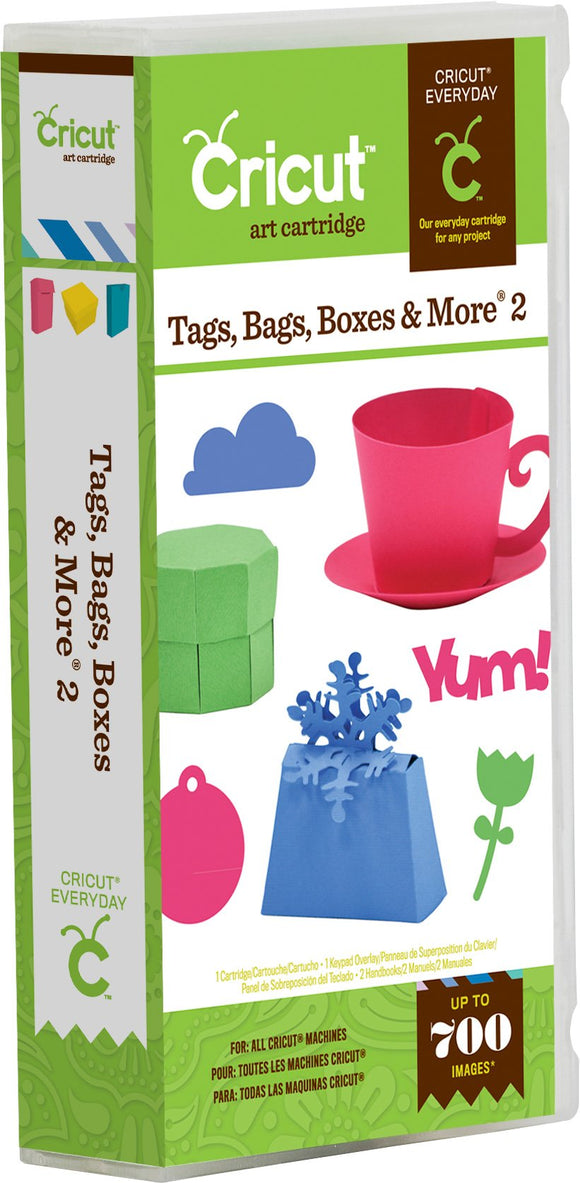 Cricut 2001228 Tags Bags Boxes and More, 2 Cartridges