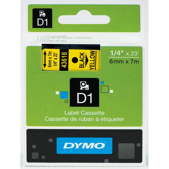 DYMO Standard D1 Labeling Tape, 1 Cartridge