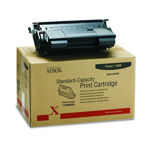 Xerox 113R00656 Black Toner Cartridge -Black -Laser -10000 Page -1 Each
