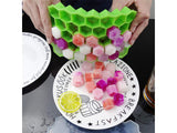 Hisen 37 Grid Honeycomb Food Grade Silicone Ice Block Ice Cube Tray