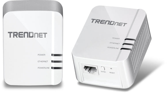 TRENDnet Powerline 1300 AV2 Adapter Kit, Includes 2 x TPL-422E Adapters, IEEE 1905.1 & IEEE 1901, Gigabit Port, Range Up to 300m (984 ft.), TPL-422E2K