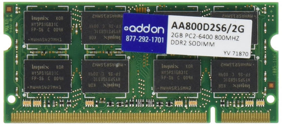 2gb 800mhz Ddr2 Pc2-6400 Cl6 200-Pin Industry Standard Sodimm