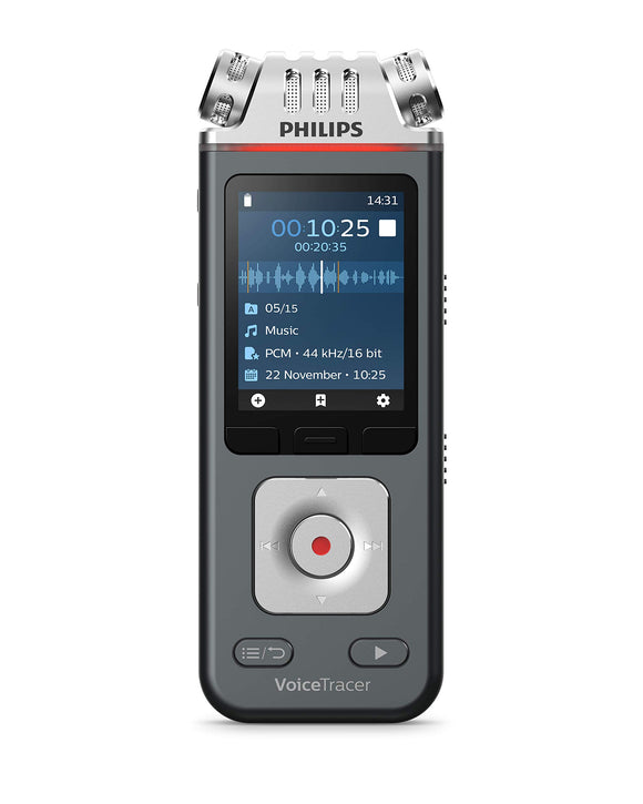Philips Speech DVT6110 Philips DVT6110 VoiceTracer Audio Recorder Voice Recorder