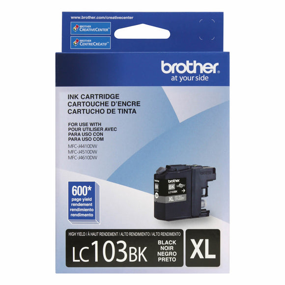 Brother LC-103BKS Genuine LC103BK High Yield XL Black Ink Cartridge