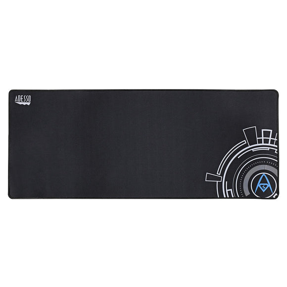 Adesso P104 Large Gaming Mousepad - Soft Cloth Ultra Long Matte with Circular Logo Design for Esports