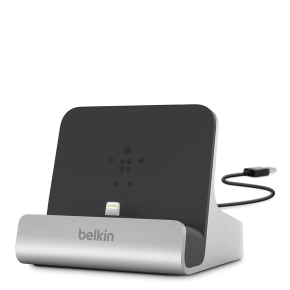 Belkin F8J088bt ChargeSync Express Dock with Lightning Cable Connector for iPad Air, Air 2, 4th Gen, Mini 4, Mini 3, Mini 2, Mini, iPhone 6S, 6S Plus, 6, 6 Plus, 5, 5S, 5c, and iPod Touch 7th Gen