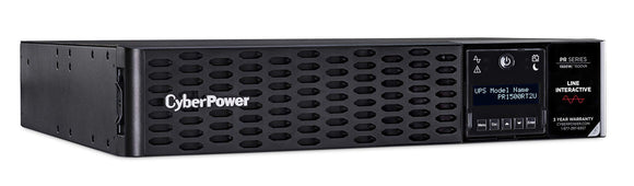 CyberPower PR1500RT2UN Smart App Sinewave UPS System, 1500VA/1500W, 8 Outlets, 2U Rack/Tower, Rmcard205 Pre-Installed