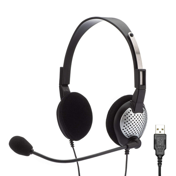 Open Box Andrea Communications C1-1022300-50 Model NC-181 VM USB On-Ear Mono (Monaural) Headset NC-181VM USB