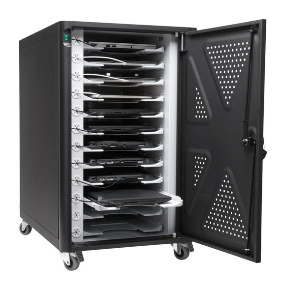 Kensington AC12 Security Charging Cabinet for Tablets, Chromebooks, and 2 in 1 Laptops (K64415NA)