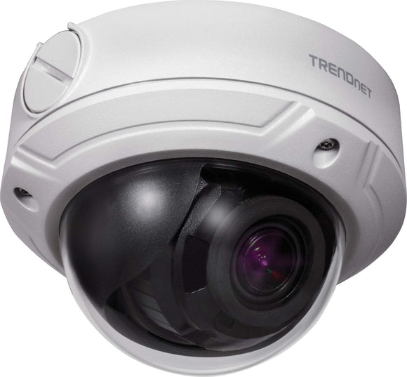 TRENDnet Indoor/Outdoor 4 Megapixel, Varifocal PoE IR Dome Network Camera, Auto-Focus, Optical Zoom, Manual Pan/Tilt, Night Visions Up to 66ft, IP66 Rated Housing, ONVIF, IPv6, TV-IP345PI