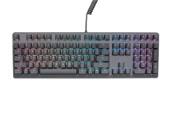 Mionix Wei PC and Mac RGB Mechanical Keyboard Silent-Great for Esports Made for Gamers and Artists-Quite Cherry Mx Red Switches-Durable USB Metal Keyboard Black/Grey-Replaceable Keycaps Pink/Red, Yellow, Blue/Turquise