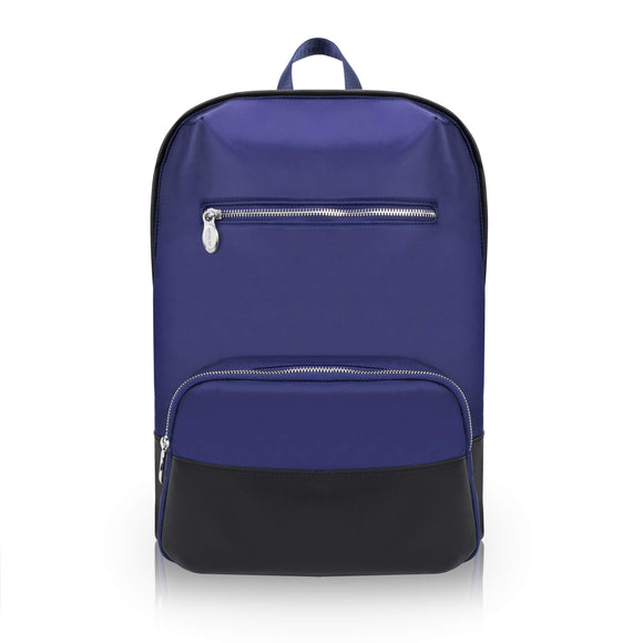 McKlein 18597 USA Brooklyn Nylon Contour Backpack Navy