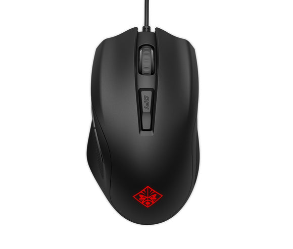 OMEN by HP Wired USB Gaming Mouse 400 -Optimized Mechanical Switches - Quick Adjust 5,000 DPI Optical Sensor - Sniper Mode - RGB LED - Customizable Buttons