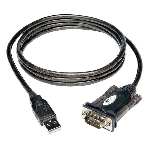 Tripp Lite 5ft USB to Serial Adapter Cable - (A-M to DB9-M)