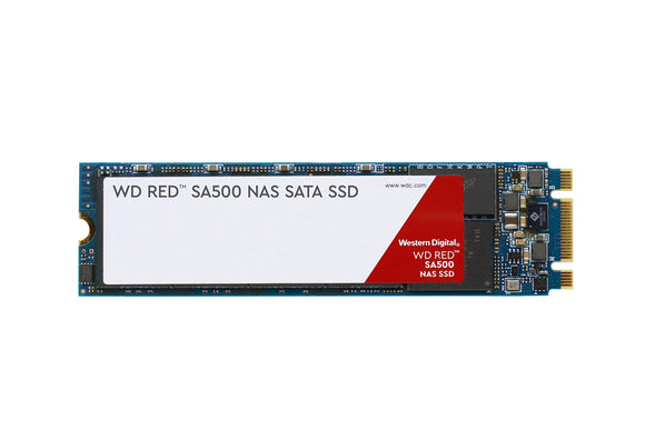 WD Red SA500 NAS 500GB 3D NAND Internal SSD - SATA III 6 GB/s, M.2 2280, Up to 560 MB/S - WDS500G1R0B