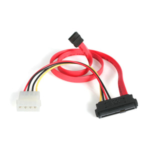 Startech SAS729PW18 18-Inch SAS 29 Pin to Sata Cable with Lp4 Power