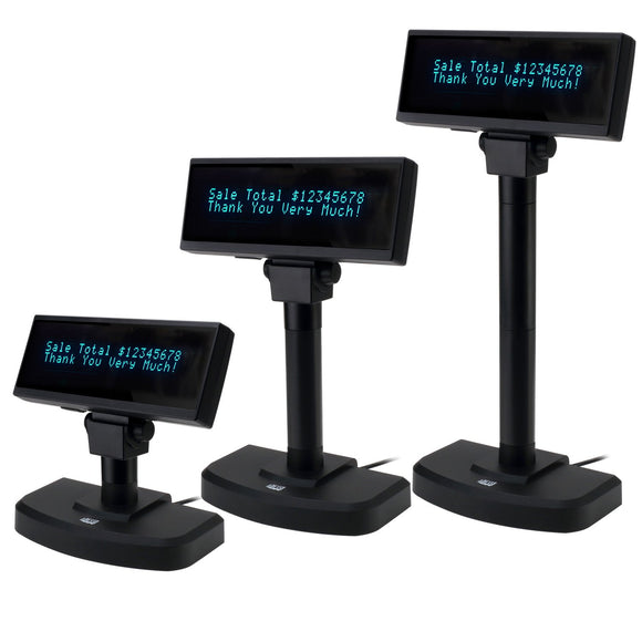 Adesso APD-200 POS Register Stand Up Display Vacuum Fluorescent Screen VFD Monitor 8.8